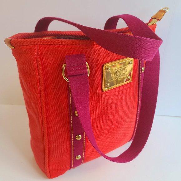 Louis Vuitton Handbags - Louis Vuitton Cabas Mm Antigua Limited Edition Red